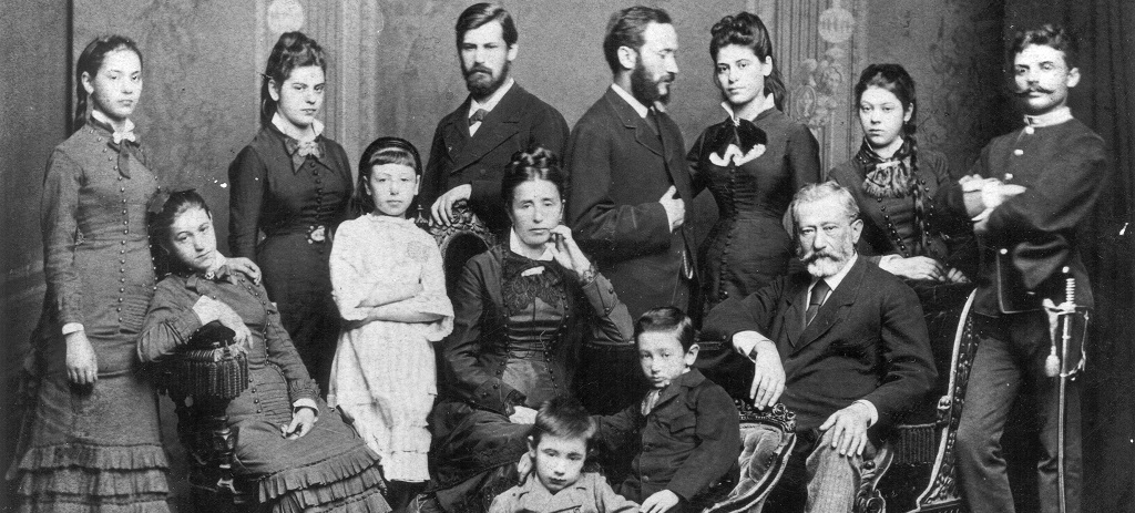 Sigmund Freud and family group. Undated